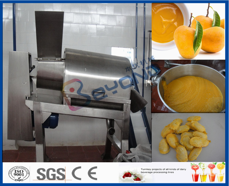 Stainless Steel Mango Processing Plant With Double Stage Pulper 5T Per Hour