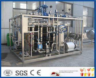 Εξοπλισμός παστερίωσης γάλακτος οθόνης αφής PLC με τον ανταλλάκτη θερμότητας πιάτων