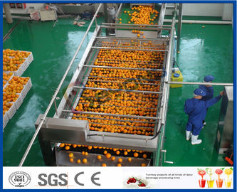 10TPH αυτόματη χυμού από πορτοκάλι γραμμή επεξεργασίας εκχυλισμάτων πορτοκαλιά για το χυμό που κάνει το εργοστάσιο