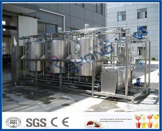 1000L - 10000L καθαρίζοντας σε ισχύ το σύστημα, η γαλακτοκομική βιομηχανία συστημάτων Cip με 4 τοποθετεί σε δεξαμενή τα διπλά κυκλώματα